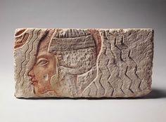 Limestone Relief of Queen Kiya, Second Wife of Akhenaten, Egyptian, New Kingdom, Dynasty 18, c. 1352 - 1340 BC