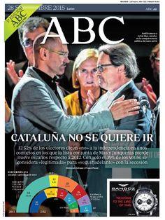 La portada de ABC del lunes 28 de septiembre