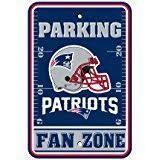 New England Patrioits NFL Football Fan Zone Parking Sign