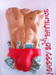 """Magic Mike"" Dirty 30 - by Kendra Hicks @ CakesDecor.com - cake decorating website"