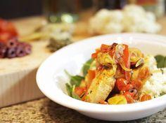 Healthy and Fast: Mediterranean Braised Chicken Tenderloins With Cauliflower Couscous