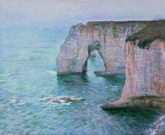 La Manneporte, vue prise en aval (C Monet - W 1037),1885.