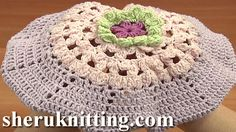 CROCHET EASY BERET HAT FOR GIRLS Tutorial 7 Part 1 of 2 http://sheruknitting.com/sherufashion/crochet-and-knitting-clothes/item/725-crochet-easy-beret-hat-for-girls.html  This simple and at the same time very pretty beret is worked in rounds, begin the work the same way like you start a flower.