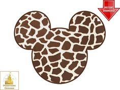 Giraffe Mickey Mouse Minnie Ear Animal Kingdom Disney by Pennyring