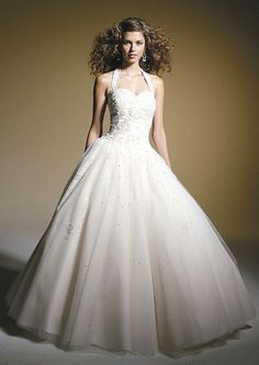 stunning full halter corset style fully lined ball-gown organza Modest simple wedding dresses plus size MYIWDM1719