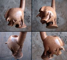 Angry boar pipe 2 - 4 views by HouseOfLostPlay