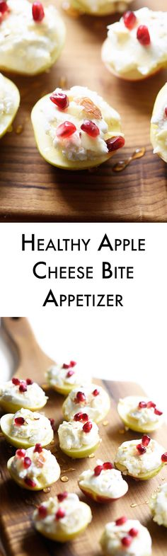 These healthy apple cheese bites are super simple and absolutely delicious. They are the perfect healthy appetizer or make a great healthy after school snack!