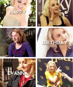"""Happy 23rd Birthday, Evanna! (16th August, 1991) You weren't trying hard to present a certain aspect of yourself that would boldly identify you in the world. And that's when it occurred to me how bizarre and positively ridiculous it was to apply the word """"weird"""" to describe you, when you represented the most natural and unpretentious state possible to be; you were yourself."""" - Evanna Lynch on Luna Lovegood"""