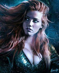 Mera Amber Heard,so beautiful Marvel Vs, Marvel Dc Comics, Mera Dc Comics, Aquaman Film, Amber Head, Elfen Fantasy, Super Heroine, Arthur Curry, Comics Girls