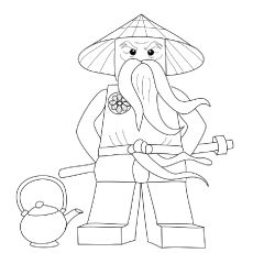 Ninjago Coloring Pages Sensei Wu                                                                                                                                                                                 More