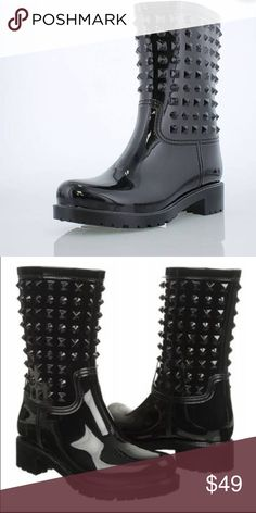 Chinese laundry rock it studded rainboot FINAL Minimal wear euc like new 50% of the proceeds from the sale of this item will be donated to the ACLU and/or Planned Parenthood. Chinese Laundry Shoes Winter & Rain Boots
