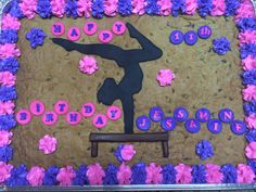 Gymnastics cookie cake