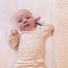 Good morning sweet Nicholas. Here he is modelling our organic cotton layette.