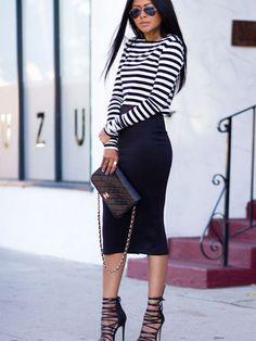 Fashion Fix: zwarte kokerrok