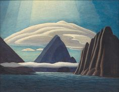 Albert Harbour, North Baffin Island by Lawren Harris. Canada's Group of Seven Group Of Seven Art, Group Of Seven Paintings, Canadian Painters, Canadian Artists, Art And Illustration, Illustrations, Ontario Art Gallery, Landscape Art, Landscape Paintings