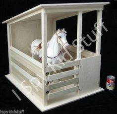 """Doll Sized Size Wood Horse STABLE Barn Shed Corral Toy *up to 19"""" tall Horses"""