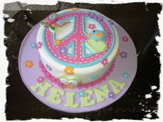 Torta simbolo de la paz Peace Cake, Birthday Parties, Birthday Cake, Baby Shower Cakes, Peace And Love, Peace Signs, Cupcake Cakes, Picnic, Desserts