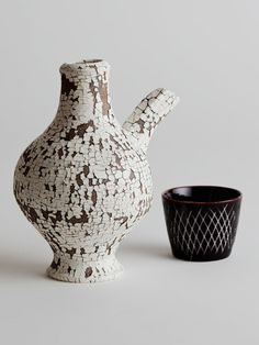 cracked slip sake server (with engraved sake cup), matthias kaiser