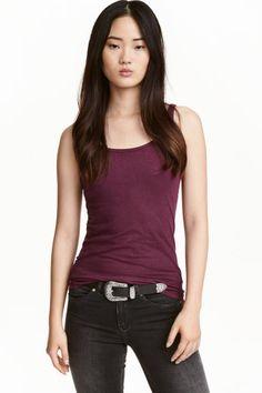 Jersey vest top - Plum - Ladies | H&M GB 1