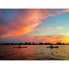 Kayaking on the Oklahoma River in Oklahoma City