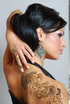 Black & white henna