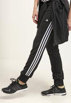 Sei sportlich unterwegs! adidas Performance ESSENTIALS - Jogginghose - black/white für 44,95 € (06.10.16) versandkostenfrei bei Zalando bestellen.
