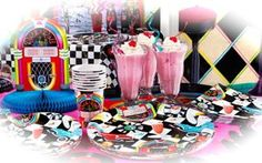 1950's Rock n Roll Themed Party Supplies and Decorations