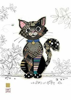 Applique Patterns, Embroidery Applique, Quilt Patterns, Machine Embroidery, Bug Art, Motifs Animal, Cat Quilt, Animal Quilts, Quilting