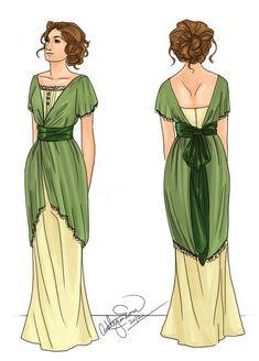 silhouette of the Edwardian Dress, Edwardian Era, Edwardian Fashion, Historical Costume, Historical Clothing, Retro Fashion, Vintage Fashion, Ladies Fashion, Vintage Dresses