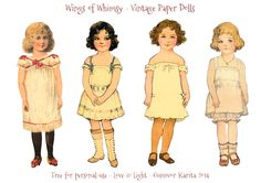 Tonight I'm sharing a 4th set of Vintage Paper Dolls with ya'll: I'm trying my best to gather the dolls most simmilar in style on each sheet. So ifyou like one style and not so much another, you w...