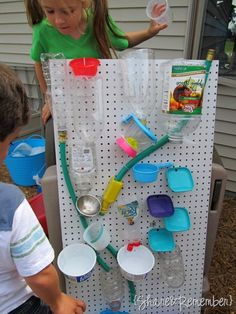 DIY Kids' Water Wall by shareandremember #Kids #Water_Wall #shareandremember