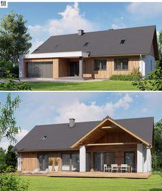Home Building Design, Barn House Design, Small House Design, Cottage Design, Building A House, Model House Plan, Dream House Plans, Small House Plans, Modern Bungalow Exterior