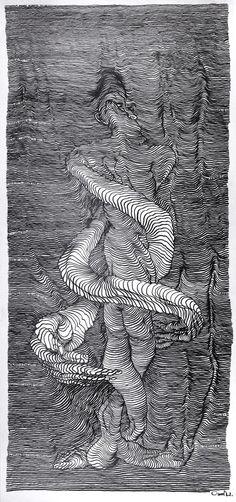 Incredible scroll drawings created inside a moving car by Carl Krull - BOOOOOOOM! - CREATE * INSPIRE * COMMUNITY * ART * DESIGN * MUSIC * FILM * PHOTO * PROJECTS