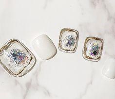 夏/旅行/リゾート/デート/フット - Rhea nail 久屋大通のネイルデザイン[No.4226559]|ネイルブック Cute Toe Nails, Toe Nail Art, Pretty Nails, Simple Nail Art Designs, Nail Designs Spring, Bridal Nails, Wedding Nails, Korea Nail, Japan Nail
