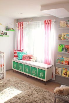 Super cute. I like the bench with toy storage