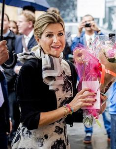 Dutch Queen Maxima, patroness of the Prince Claus Chair, arrives for the inaugural of Professor Javier A. Couso at the Utrecht University in Utrecht, The Netherlands, 18 May 2015.