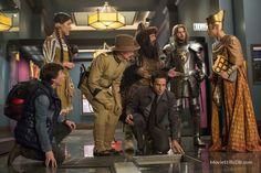 Night at the Museum: Secret of the Tomb - Publicity still of Ben Stiller, Robin Williams, Skyler Gisondo, Patrick Gallagher, Mizuo Peck, Rami Malek & Dan Stevens