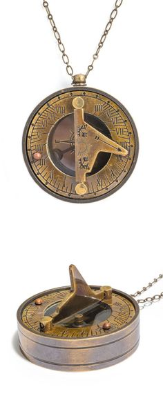 Sundial / Compass Necklace // not a jewelry fan, but this is cool