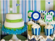 Golf themed party...why didn't I think of that. So cute.