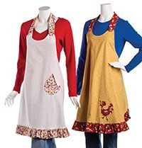 vintage inspired apron - free pattern, reversible or nonreversible