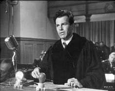 """Maximillian Schell, 1961  as Judge Hans Rolfe in """"Judgment at Nuremberg"""", won an Academy Award for best actor. Oscar Movies, New Movies, Good Movies, Oscar Academy Awards, Academy Award Winners, Judgment At Nuremberg, Maximilian Schell, Day Lewis, Actor Studio"""