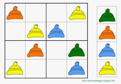 PETIT MON: SUDOKUS D'HIVERN Kindergarten Activities, Activities For Kids, Preschool, Educational Games For Kids, 1st Grade Math, Math For Kids, Winter Theme, Kids Education, Math Lessons