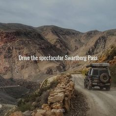 Considered one of the world's most scenic mountain passes the pass runs through the Swartberg Mountains in the Little Karoo and was built by prison labor in 1888. A 4x4 is not required but is recommended : @sarahvr9 #letsdothisza #southafrica WHERE: The Swartberg Pass Little Karoo WHEN: Anytime WHY: Spectacular views and scenery Mountain Pass, Run Through, Prison, South Africa, 4x4, Things To Do, Scenery, Let It Be, Running