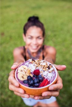 Only for the real Acai lovers > www.elacai.com Acai Bowl, Lovers, Purple, Breakfast, Food, Acai Berry Bowl, Morning Coffee, Meal, Essen