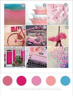 Colour Me Pink, or not at Callaloo Soup Inspiration Boards, Creative Inspiration, Color Inspiration, Color Combinations, Color Schemes, Pastel Colors, Colours, Uk Singles Chart, Still Life Flowers