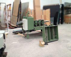 carga de maquina de puntas al container open top para su venta
