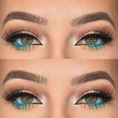 Pop of blue & gold waterline.