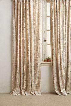Textured Linen Curtain - anthropologie.com