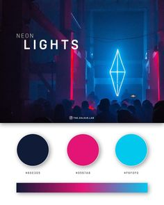 Web And App Design, Web Design Color, Logo Design, Design Design, Graphic Design Inspiration, Color Inspiration, Neon Colour Palette, Color Palettes, Gradient Color