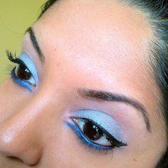 Pastel meets foiled shadow is the ultimate combo. #sugarpill #makeupgeek #crueltyfree #brownskin #blackeyes